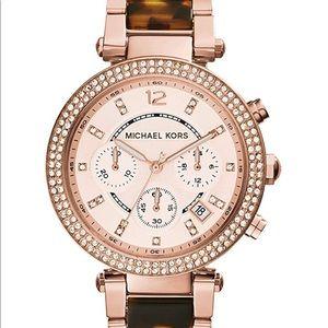 Michael Kors Parker Watch (Rose Gold/Tortoise)